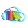 books within cloud icon 100x100
